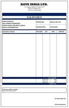 image result for simple gst invoice format in excel