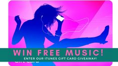 iTunes Gift Card Giveaway! Subscribe to our Free Email Updates for a Chance to Win!