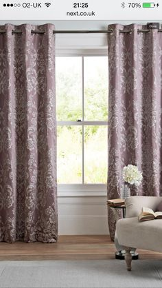 Natural Country Floral Print Eyelet Curtains From Next