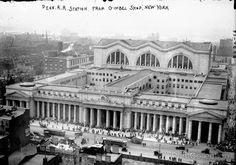 Penn. RR Station from Gimbel's N.Y. , photographed by Bain News Service between 1910 and 1915 on 5x7 glass plate negative.