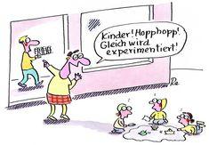 Kigaportal_Kindergarten_Cartoon_Renate-Alf_Experimentieren Source by Inner Child, Renoir, Kids And Parenting, True Stories, Coaching, Comedy, Teacher, Clip Art, Motivation