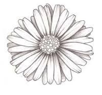 white grey  daisy flower tattoo