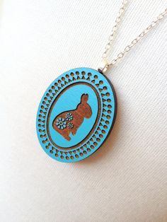 Rabbit Cameo Necklace - Collar camafeo conejo
