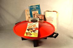 West Bend NOS Red Electric Wok Oriental Asian