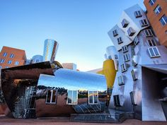 The Ray and Maria Stata Center or Building designed by Frank Gehry for the Massachusetts Institute of Technology Massachusetts Institute Of Technology, Frank Gehry, Creative Inspiration, Background Images, Architecture Design, Shades, Vacation, The Originals, Building
