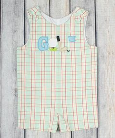 Look what I found on #zulily! Cayman Plaid Golf Shortalls - Infant & Toddler #zulilyfinds