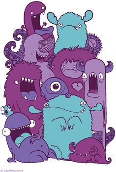 cute monster illustrations - Google Search More