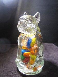 Pug Bull Dog Candy Jar Bottle Container Jeannette Depression Glass | eBay