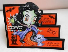 Blankina creations: Halloween at Inky Chicks with Alicia Bel challenge DT post