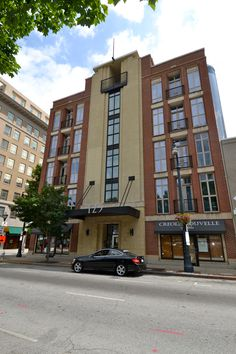 Downtown- 123 Luckie St.- Built in 2000, this 49 unit mid-rise condo building has a great downtown feel, and building security and gated entry to make you feel safe.