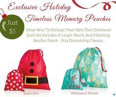 Exclusive Holiday Timeless Memory Pouches by Thirty-One. Click to order. www.mythirtyone.com/abignell