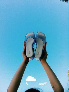 E se não tiver nuvem  a gente inventa uma  #lojaamei #melissa #donnajelly #céu  #céuazul