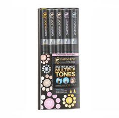Chameleon Pastel Tones Set Of 5 Pens