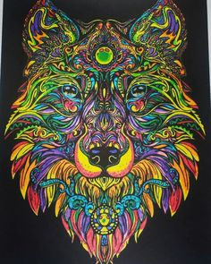 #wolf #color #painting