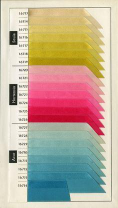Lyon Federation of Silk - Spring / Summer colour card, 1970