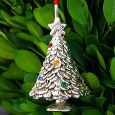 Cazenovia Christmas Tree 3-D Sterling Ornament