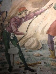 Storie di san Michele Arcangelo (dettaglio), Melozzo da Forlì e Antoniazzo Romano, 1464-1468. Cappella del cardinal Bessarione (Basilica dei Santi Apostoli), Roma.