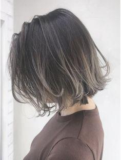 ハイライトグラデーション_無造作カール丸みショート_ba128726:L014578987|アルバム ハラジュク(ALBUM HARAJUKU)のヘアカタログ|ホットペッパービューティー Brunette Hair Color With Highlights, Hair Color Streaks, Hair Highlights, Asian Short Hair, Asian Hair, Hair Color Asian, Short Grunge Hair, Dark Ombre Hair, Aesthetic Hair