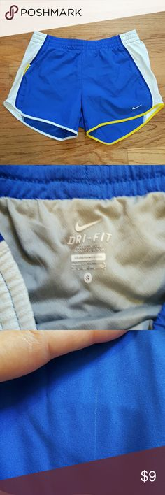 Nike Dri-Fit Shorts NIKE Dri-Fit Shorts Size Small. Does have underwear insert. Has a couple of small white marks but nothing noticeable. Picture is posted. Nike Shorts