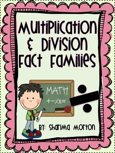 I have another freebie today to practice multiplication and division fact families with your kiddies. Division Activities, Math Division, Math Activities, Fourth Grade Math, Fact Families, Multiplication And Division, Math Workshop, Homeschool Math, Math Facts