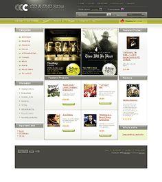 CD DVD ZenCart Templates by Oldman