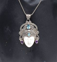 Princess of Java Pendant - Handcrafted .925 sterling silver pendant from Bali. #bali #balinese #handcrafted #silver #sterlingsilver