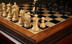 Elegant curves, rich woods and glorious patterns are just perfect ways to create a commendable chess set.  . View chess set designs at chessbazaar.com