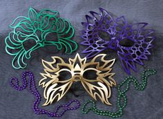 Mardi Gras Masks Special Totem Electro Decaflor by TomBanwell, $92.00