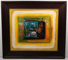 """Original Framed Oil Painting by Listed Artist Roy Dimitri Parsons 15"""" x 13"""" 1963"""