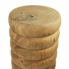 Elegant English Oak stool or side table with by ObeAndCoDesign