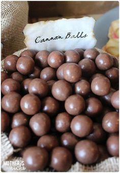 Cannon balls + Other fun Pirate Party Ideas