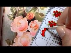 Unhas decoradas com Rosas - Tutorial Passo a passo Nail art - YouTube