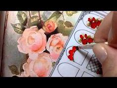 Unhas decoradas com Rosas - Tutorial Passo a passo Nail art - YouTube