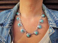 Boho Necklace  Bib Necklace  Statement Necklace  by ebrukjewelry