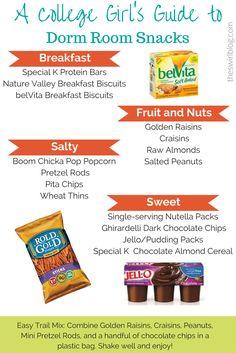 A College Girlu0027s Guide: Dorm Room Snacks Part 68