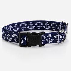 Anchors Aweigh Dog Collar //waggo.com//