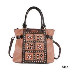 Nicole Lee 'Daysha' Flowery Embellished Shoulder Bag | Overstock.com Shopping - Great Deals on nicole lee Shoulder Bags