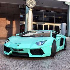 Lamborghini Aventador in Tiffany Blue #LamborghiniAventador