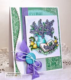 ChristineCreations: Lilac Time stamp set by Power Poppy.