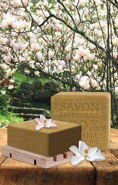 SAVON DE MARSEILLE %100 BİTKİSEL ZEYTİNYAĞLI KATI SABUN MANOLYA 150 GR KUTULU