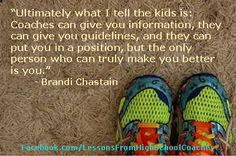 """Sports quote- """"Ultimately what I tell the kids..."""" Visit our website at http://LessonsFromSports.com; Like us on Facebook at http://Facebook.com/LessonsFromSports; and join us on Twitter @lessonsSports"""