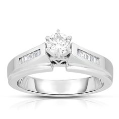 Eloquence 14k Gold 1/2ct TDW Solitaire Brilliant Diamond Engagement Ring