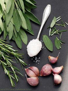Salbei-Rosmarin-Knoblauch-Salz