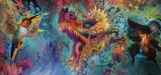 Magic trips are awesome. That's why we enjoy psychedelic art too! Today we are meeting a psychedelic artist: Mr. Android Jones and his colorful paintings. Android Jones, Psychedelic Artists, Visionary Art, Sacred Art, Haiku, Fantasy Art, Cool Art, Artsy, Sketches