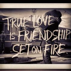 I could not agree more. I strongly believe that there needs to be a strong, genuine friendship before falling in love.