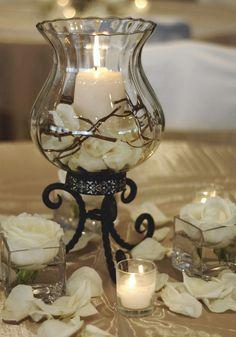 Reception, Flowers & Decor, silver, Centerpieces, Centerpiece