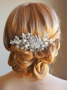 Nuziale capelli pettine accessori per capelli di GlamorousBijoux