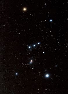 The great constellation Orion as it appears in the northern hemisphere. As one moves south to the equator, Orion seems to tip over on to its side, and then appears the other way up in the southern hemisphere Orion Tattoo, Constellation Tattoos, Constellation Orion, Orion Nebula, Stars At Night, Stars And Moon, Orion's Belt, Star Constellations, E Mc2