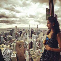 I've found the perfect balcony at #HancockTower #Chicago #USA #Travel #Traveldiaries #Fun #Holiday #Vacation