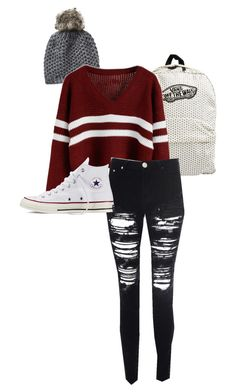 """Tomboy"" by peanutbutter-n-nutella on Polyvore featuring Vans, Vincent Pradier, Glamorous and Converse"